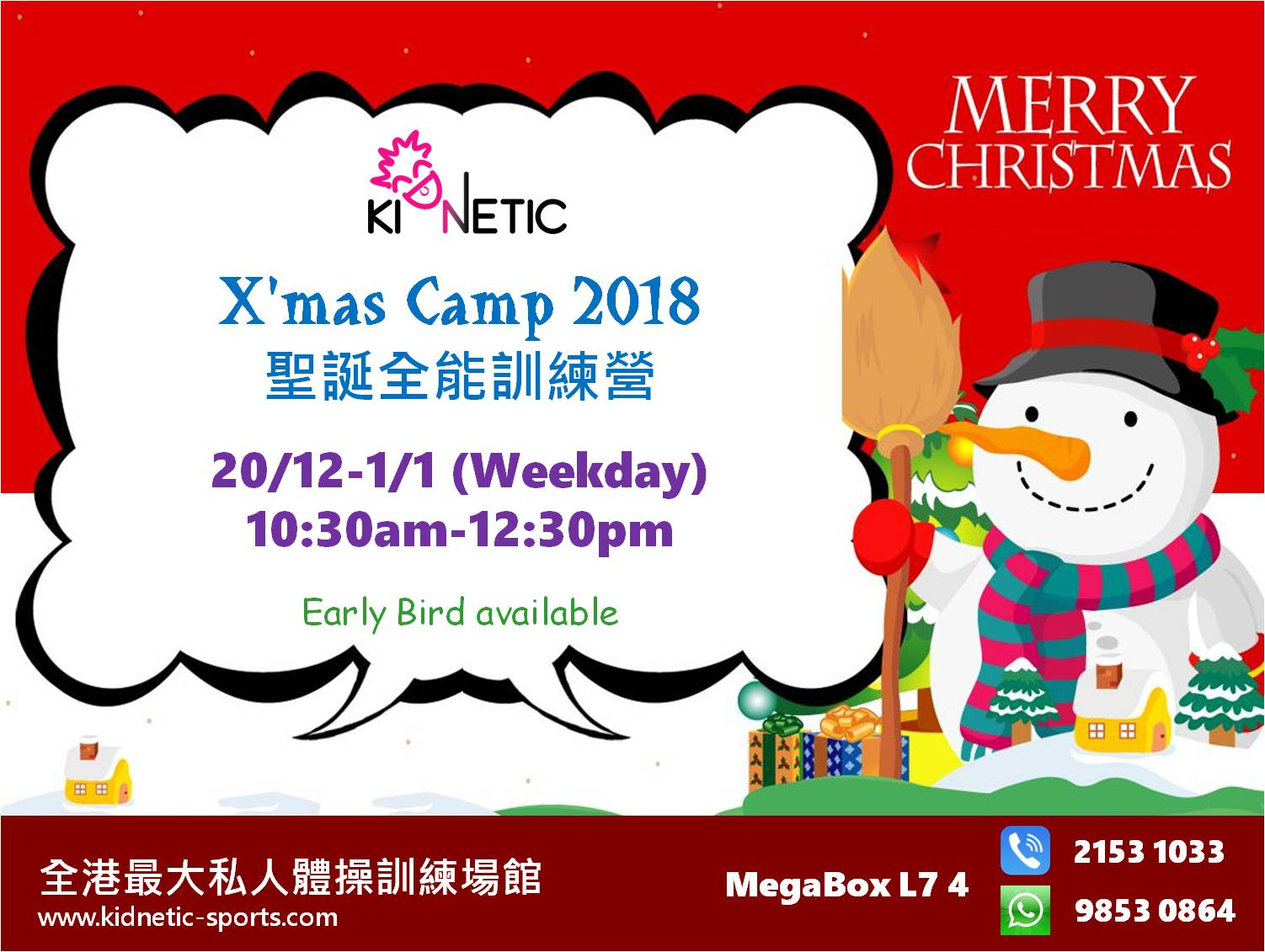 Christmas Camp 2018 Day Pass – Kidnetic Sports